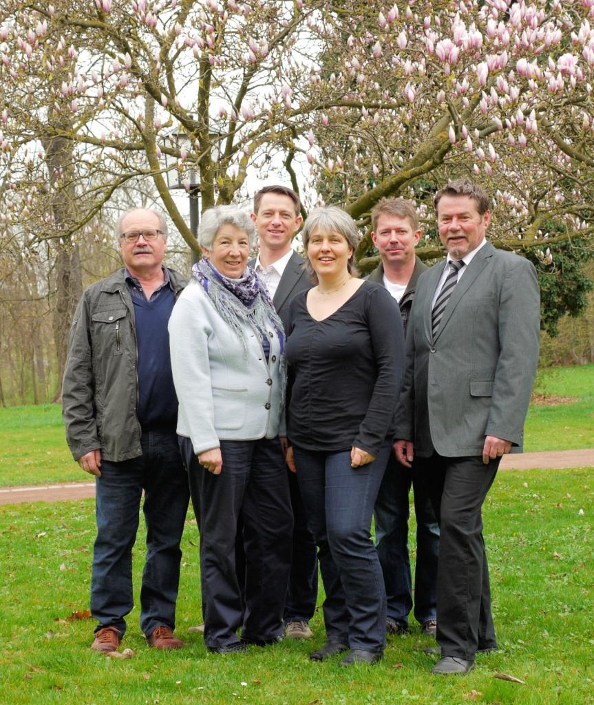 Mit UNS für Hemmingen: Günter Ramsaier, Ursula Tronich, Philipp Hund, Sabine Waldenmaier, Ernst Schläger und Eduard Rehm (von links nach rechts)